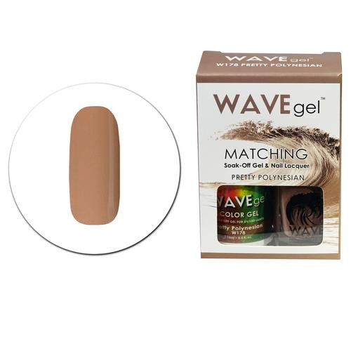 WaveGel Matching S/O Gel & Nail Lacquer - W178 PRETTY POLYNESIAN .5 oz