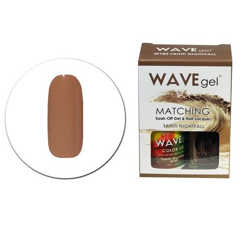 WaveGel Matching S/O Gel & Nail Lacquer - W180 TAHITI NIGHTFALL .5 oz