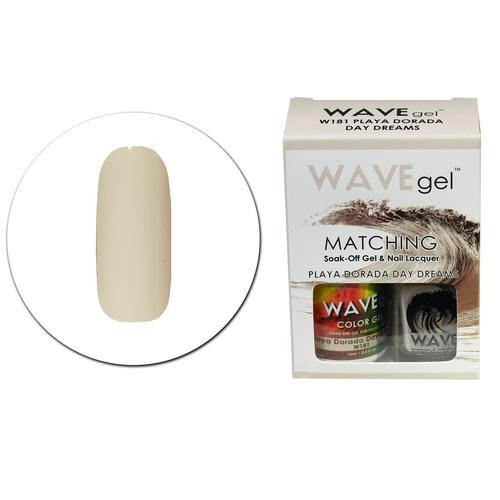 WaveGel Matching S/O Gel & Nail Lacquer - W181 PLAYA DORADA DAY DREAMS .5 oz