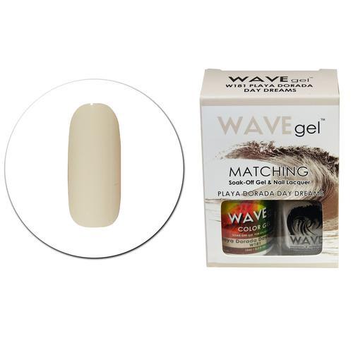 WaveGel Matching S/O Gel & Nail Lacquer - W181 PLAYA DORADA DAY DREAMS .5 oz