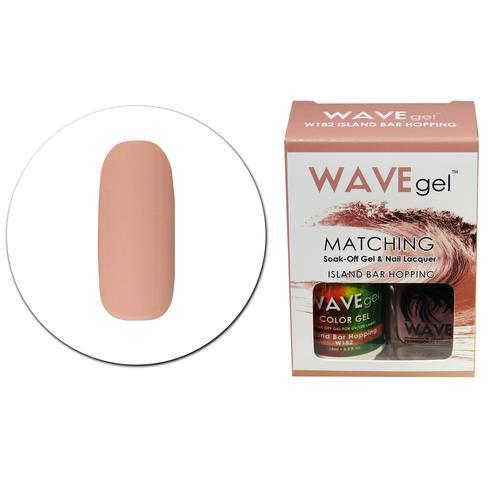 WaveGel Matching S/O Gel & Nail Lacquer - W182 ISLAND BAR HOPPING .5 oz