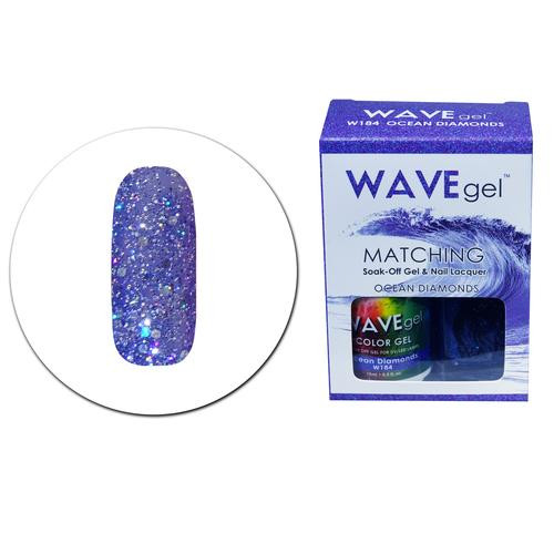 WaveGel Matching S/O Gel & Nail Lacquer - W184 OCEAN DIAMONDS .5 oz