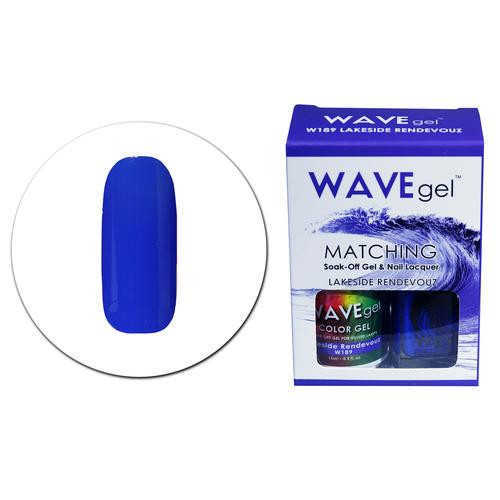 WaveGel Matching S/O Gel & Nail Lacquer - W189 LAKESIDE RENDEVOUS .5 oz