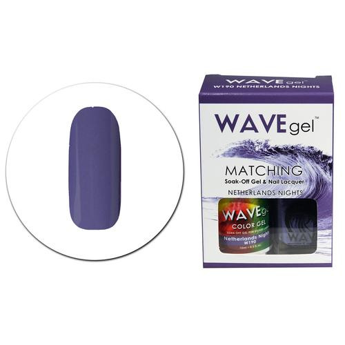WaveGel Matching S/O Gel & Nail Lacquer - W190 NETHERLANDS NIGHTS .5 oz