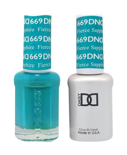 DND Duo Gel - G669 Fierce Sapphire