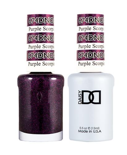 DND Duo Gel - #674 Purple Scorpion