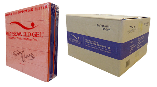 Bio Seaweed Gel - DMA Disposable Slim Buffer - Orange Purple 800/100 Grit - Case/400pc