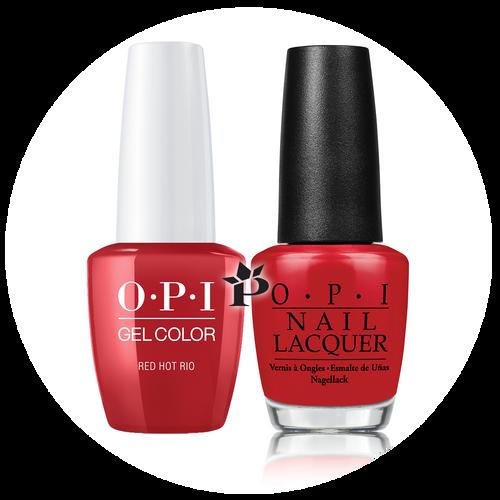 OPI Duo - GCA70A + NLA70 - RED HOT RIO .5 oz