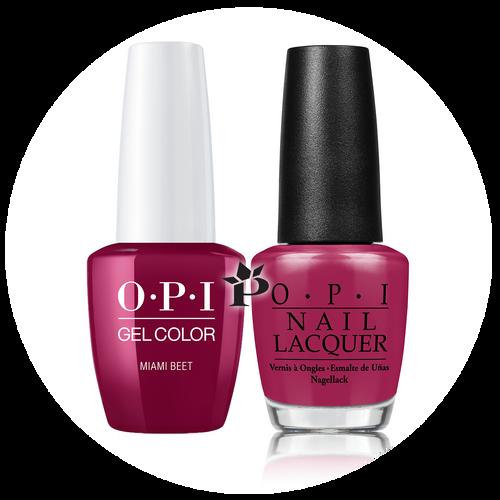 OPI Duo - GCB78A + NLB78 - MIAMI BEET .5 oz