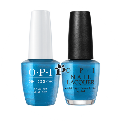 OPI Duo - GCF84A + NLF84 - DO YOU SEA WHAT I SEA .5 oz
