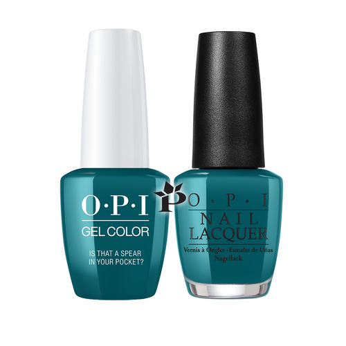 OPI Duo - GCF85A + NLF85 - IS THAT A SPEAR IN YOUR POCKET? .5 oz