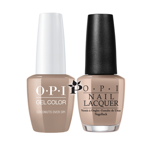 OPI Duo - GCF89A + NLF89 - COCONUTS OVER OPI .5 oz