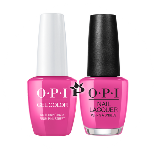 OPI Duo - GCL19 + NLL19 - NO TURNING BACK FROM PINK STREET - Lisbon Collection .5 oz