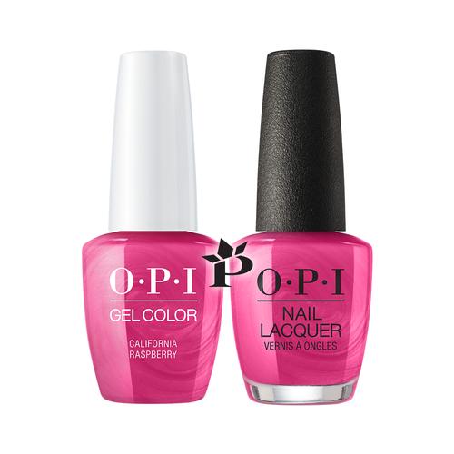OPI Duo - GCL54 + NLL54 - CALIFORNIA RASPBERRY .5 oz