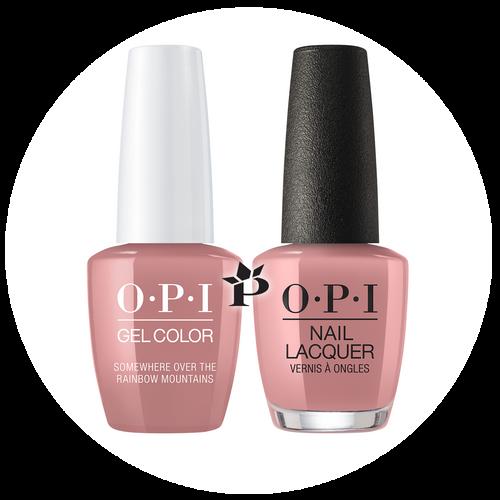 OPI Duo - GCP37 + NLP37 - SOMEWHERE OVER THE RAINBOW MOUNTAINS - Peru Collection .5 oz