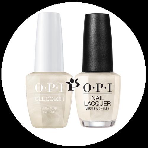 OPI Duo - HPJ01 + HRJ01 - SNOW GLAD I MET YOU .5 oz