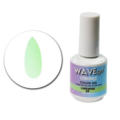 WaveGel Ombre Color Gel - #9 Limewire .5 oz