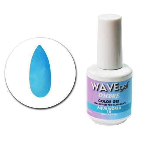 WaveGel Ombre Color Gel - #10 Aqua World .5 oz