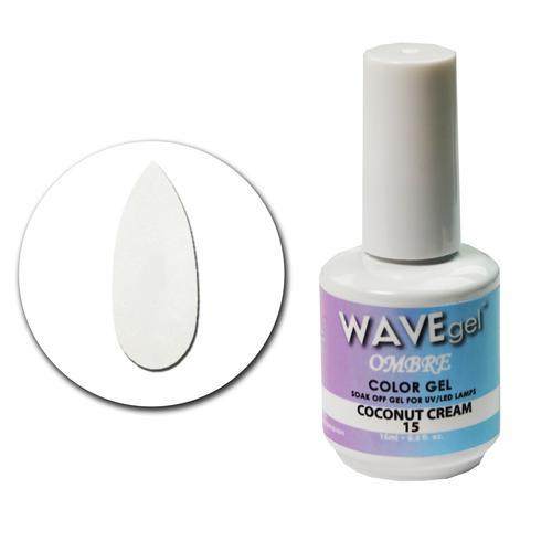 WaveGel Ombre Color Gel - #15 Coconut Cream .5 oz