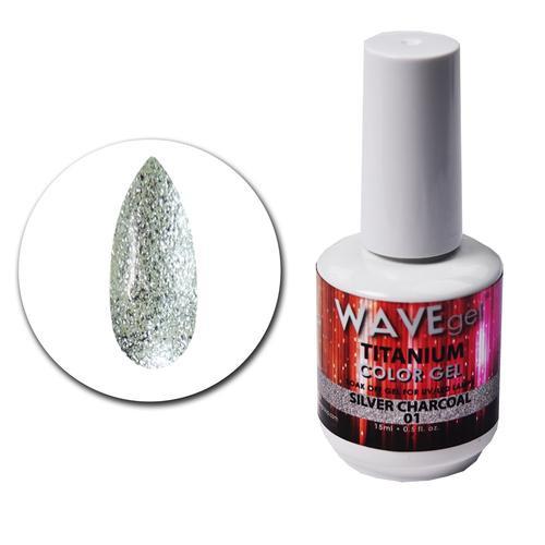 WaveGel Titanium Color Gel - #1 Silver Charcoal .5 oz
