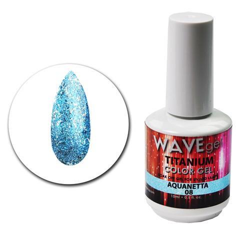 WaveGel Titanium Color Gel - #8 Aquanetta .5 oz