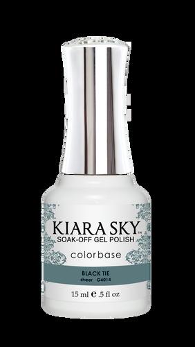 Kiara Sky Gel Polish .5 oz - #4014 Black Tie - Jelly Collection