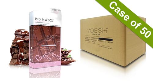 20% Off Voesh Case/50pks - Pedi in a Box - 4 Step Deluxe - Chocolate Love (VPC208CHO)