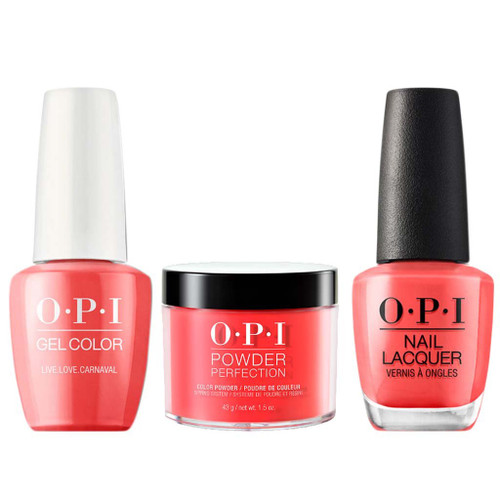 OPI COMBO 3 in 1 Matching - GCA69A-NLA69-DPA69 Live.Love.Carnival