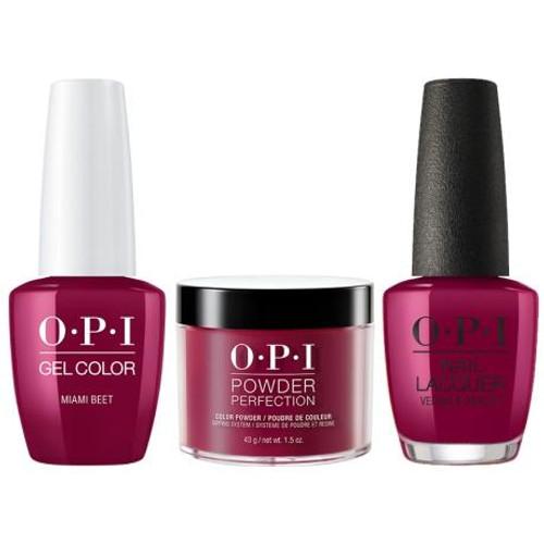 OPI COMBO 3 in 1 Matching - GCB78A-NLB78-DPB78 Miami Beet