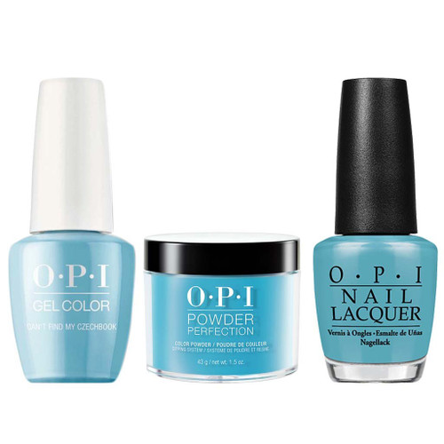 OPI COMBO 3 in 1 Matching - GCE75A-NLE75-DPE75 Can't Find My Czechbook