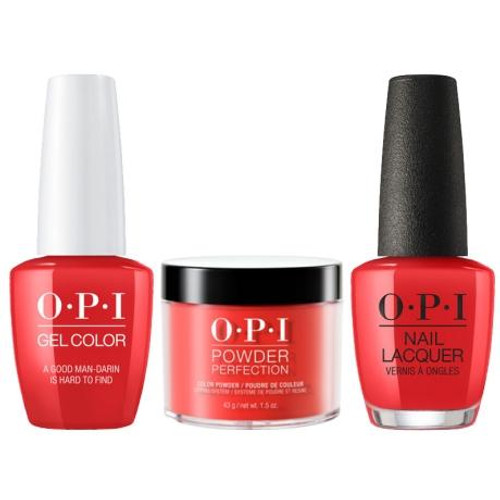 OPI COMBO 3 in 1 Matching - GCH47A-NLH47-DPH47(DPN35) A Good Man-darin is Hard to Find
