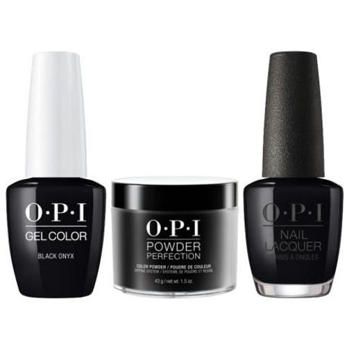 OPI COMBO 3 in 1 Matching - GCT02A-NLT02-DPT02 Black Onyx