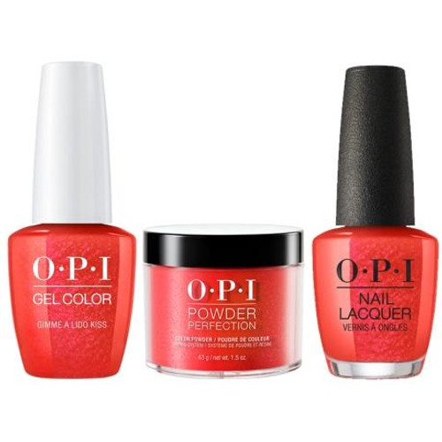 OPI COMBO 3 in 1 Matching - GCV30A-NLV30-DPV30 Gimme a Lido Kiss