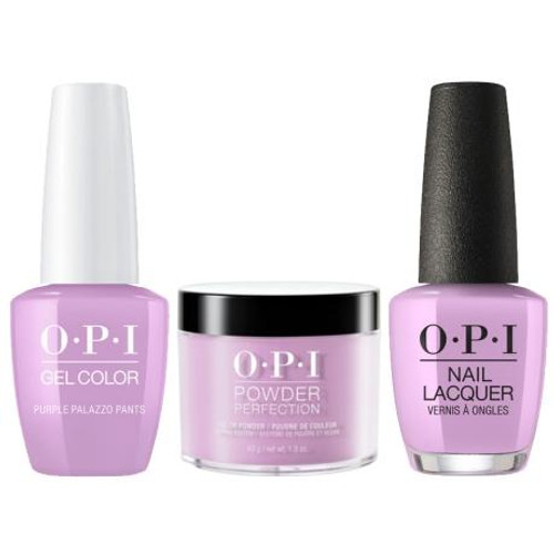 OPI COMBO 3 in 1 Matching - GCV34A-NLV34-DPV34 Purple Palazzo Pants