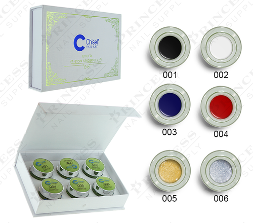 20% Off Chisel Spider Gel Kit - 6 Colors - 5ml each