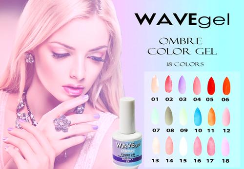 WAVEGEL Ombre Color Gel - Complete Set - 18 Colors (#01-#18)