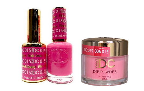 DND DC 3in1 Matching(GEL+LACQUER+DIP) - #015  PINK DAISY