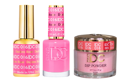 DND DC 3in1 Matching(GEL+LACQUER+DIP) - #016  DARKEN ROSE