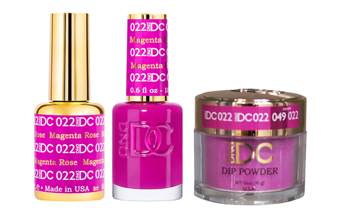 DND DC 3in1 Matching(GEL+LACQUER+DIP) - #022  MAGENTA ROSE