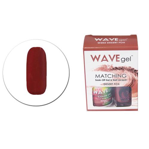 WaveGel Matching S/O Gel & Nail Lacquer - W203 Desert Fox .5oz