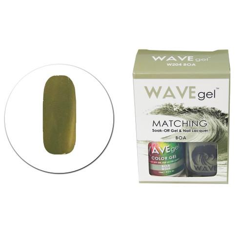 WaveGel Matching S/O Gel & Nail Lacquer - W204 Boa .5oz