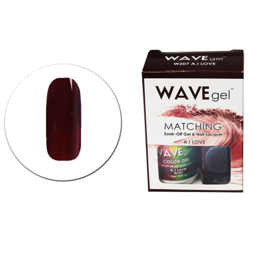 WaveGel Matching S/O Gel & Nail Lacquer - W207 A.I Love .5oz