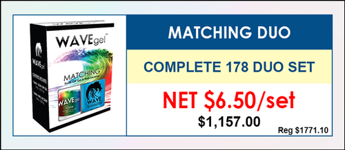 Wavegel Matching Duo - Complete Set - 178 Matching Colors (W050-W228) - GET 1 FREE SAMPLE TIP SET