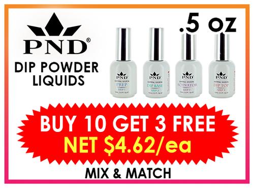 PND Dip Liquid 0.5 oz - BUY 10 GET 3 FREE (Mix & Match)