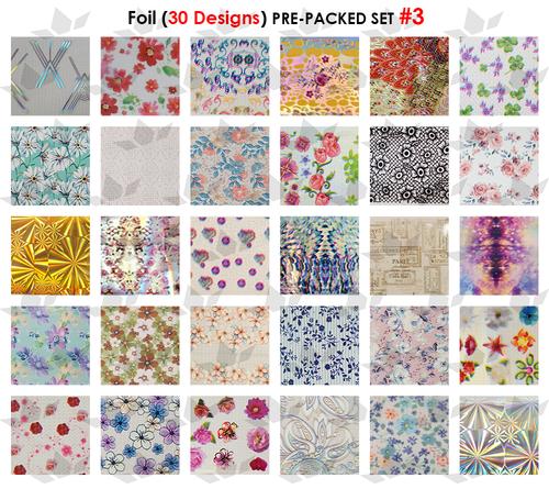 WaveGel Foil - 30 Pre-Packed Foil Designs #3  - GET 1 FREE BLINK GEL