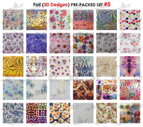 WaveGel Foil - 30 Pre-Packed Foil Designs #5  - GET 1 FREE BLINK GEL