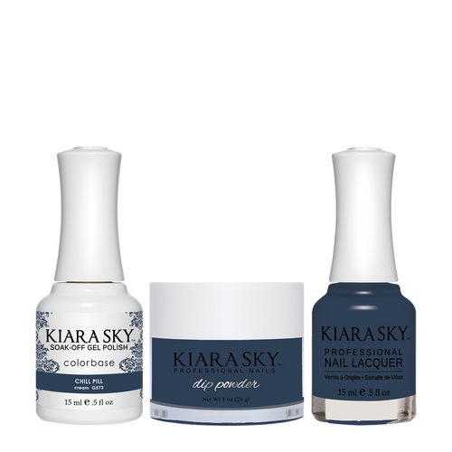 Kiara Sky 3in1(GEL+LQ+Dip) - #573 CHILL PILL - #Melt Away Collection