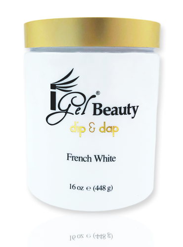 iGel Dip & Dap Powder - Pink & White - French White 16 oz