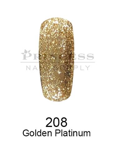 DND DC Platinum Gel - 208 Golden Platinum .6 oz