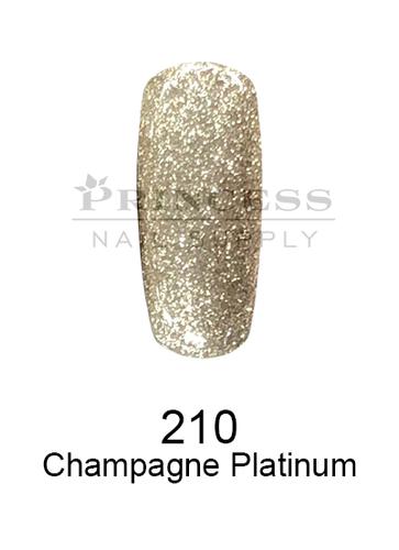 DND DC Platinum Gel - 210 Champagne Platinum .6 oz